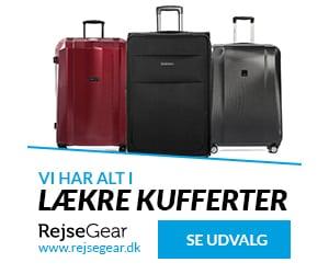 kufferter og tasker til rejsen