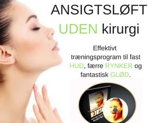 Ansigtløft uden brug af kirurgi gennem guidede videotræninger